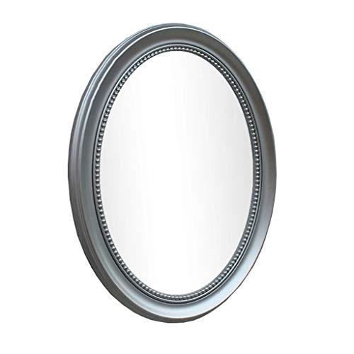 T-T-Mirror Espejo Simple, Espejo De Vanidad De Vidrio Ovalado Espejo De Baño Espejo De Pared Espejo...