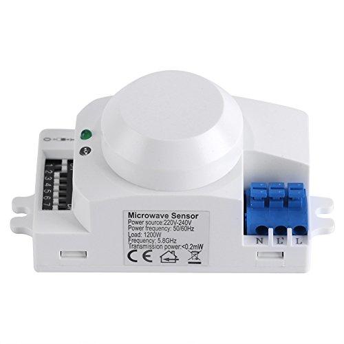 Interruptor luz inteligente sensor radar detector
