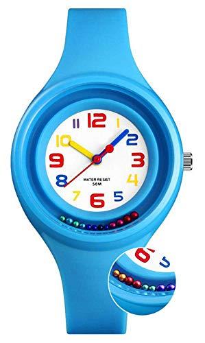Niños Relojes digitales para niños niña, 5 ATM reloj analógico deporte impermeable para niños Regalos...