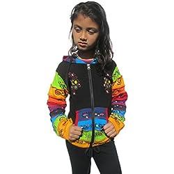LITTLE KATHMANDU - Sudadera con capucha - para niña negro negro 8 años