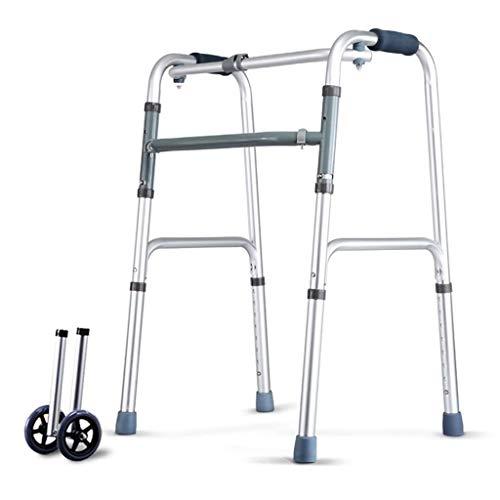 B WALKER Klappbarer Gehwagen Höhenverstellbarer Gehwagen Mit 4 Beinen Gehgestell Aus Aluminium Für Ältere Menschen Booster Für Behinderte Gehwagen Für Untere Gliedmaßen Trainer Standard-Gehwagen -