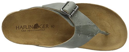 Haflinger Unisex-Erwachsene Rio Pantoletten Grau (steingrau)