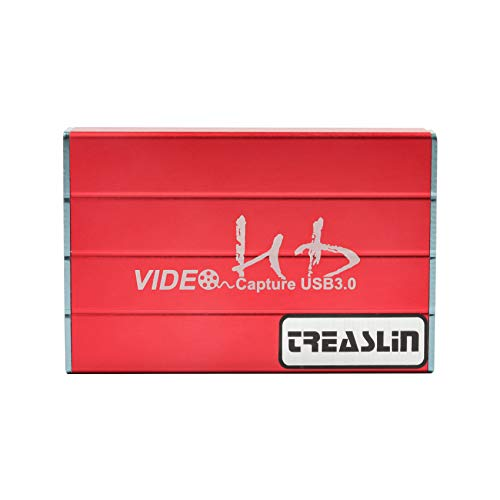 Treaslin Game Capture USB 3.0 HDMI Game Capture Karte 1080P 60fps Portable HD Video Recorder Gerät Live Streaming für Windows Linux System Superior Low Latency Technologie (Video-game-recorder)