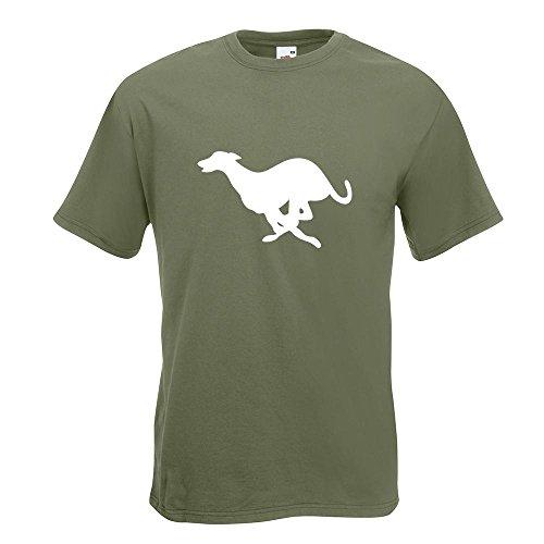 KIWISTAR - Windhund T-Shirt in 15 verschiedenen Farben - Herren Funshirt bedruckt Design Sprüche Spruch Motive Oberteil Baumwolle Print Größe S M L XL XXL Olive