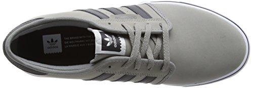 adidas Seeley - Scarpe da Ginnastica Basse Uomo Grau (Ch Solid Grey/Dgh Solid Grey/Ftwr White)