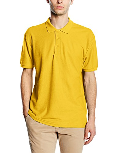 Fruit of the Loom Herren Poloshirt 65/35, Gelb-Yellow (Sunflower), L