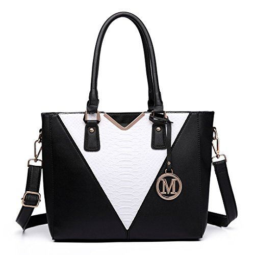 Miss Lulu , Damen Tote-Tasche 6632 Black