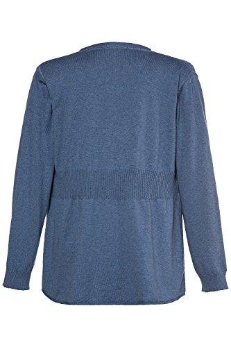 Ulla Popken Femme Grandes tailles - Cardigan à manches longues - Hauts - Femmes - Tailles 44 à 62 715164 bleu chiné