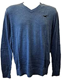 08e3cc0caa Hollister New Abercrombie Heather Blue Men s Boy s Sweater Jumper V Neck  Size XS S Small