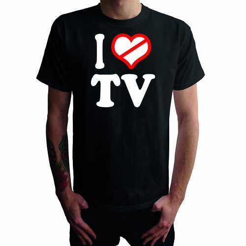 I don't love TV Herren T-Shirt Schwarz