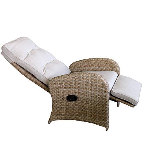 Polyrattan relaxsessel fernsehsessel gartensessel for Fernsehsessel verstellbar