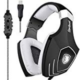 SADES A60/OMG Computer USB Gaming Headset Over Ear Stereo Gaming Heaphones With Microphone