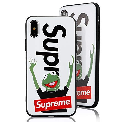 SUP Frog Case [ Passend für iPhone XS Max, in Weiß ] Supreme x Kermit der Frosch Hülle - Fühlbares 3D-Motiv Cover (Case Supreme)