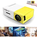 Callmate YG300 LED Mini Projector The Most Cost-Efficient High Resolution LED Projector - White