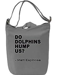 Do Dolphins Hump Us Slogan Bolsa de mano Día Canvas Day Bag| 100% Premium Cotton Canvas| DTG Printing|