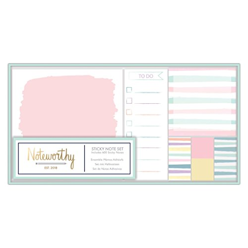 Noteworthy tonalità colore pastello vintage cancelleria Collection – Sticky notes set