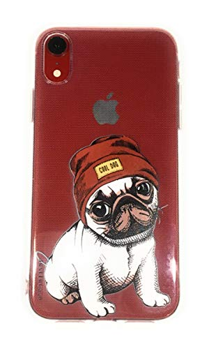 iPhone XR Hülle, transparente Schutzhülle aus weichem TPU, stoßdämpfend, für iPhone XR, iPhone XR, Cool Dog