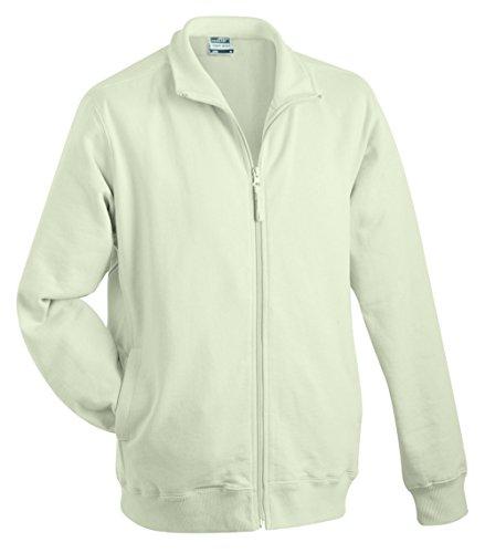 James & Nicholson Herren Sweat Jacket Sweatshirt Grau (Stone)