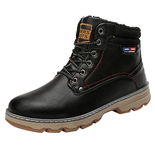 MISSQQStivali da Neve Uomo Donna Inverno Scarpe Trekking Scarpe Caldi Snow Boots Impermeabili Stivaletti Pelliccia Stringate Sneakers Outdoor