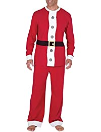 BESBOMIG Unisexo Pijamas de Navidad Familiares Ropa de Dormir - Padre Hijo Manga Larga Tops y