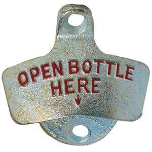 Spill-Stop Old Fashioned Wall Mount Bottle Opener by Spill-Stop Wall Mount Bottle Opener