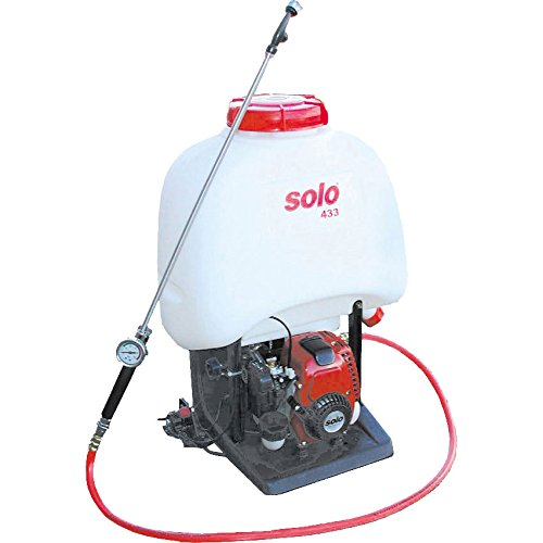 Solo 433 Backpack Petrol Mist Sprayer for Chemicals & Water 23 Litre Holds 20 Litres with 600mm Spray Lance Honda GX25 Engine