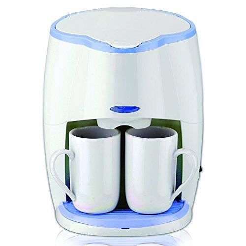 SAPIR SP-1170-L Elektrische Kaffeemaschine mit 2 Porzellan-Tassen, 450 W, weiß / blau