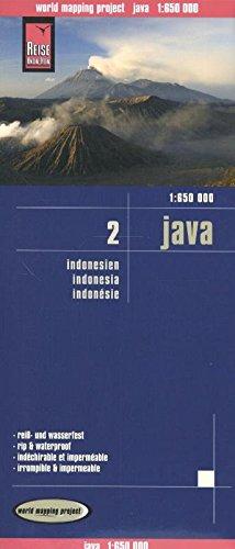 Reise Know-How Landkarte Java (1:650.000) - Indonesien 2: world mapping project: Indonesien 2. Exakte Höhenlinien, Höhenschichten-Relief, ... Straßennetz, ausführlicher Ortsindex (Karte Indonesien)