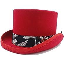 Sunhat-TX Sombrero - Sombrero de Copa DIY Steampunk con Estampado Azul  Sombrero de Tela d42ec10e7ec