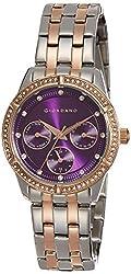 Giordano Analog Purple Dial Womens Watch-2768-66
