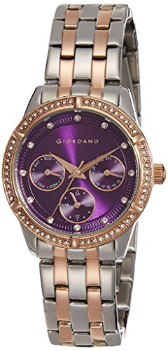 Giordano Analog Purple Dial Women's Watch-2768-66 image