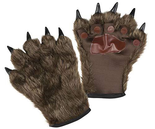 Boland 00829 Handschuhe Werwolf mit Fell, Unisex- Erwachsene, braun