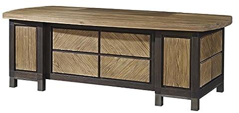 Massiv Holz Moderne Büro Schreibtisch, Elm, natürliche Farbe