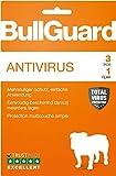 Bullguard Antivirus 2019 - Lizenz für 1 Jahr und 3 PCs! Windows 10|8|7|Vista [Online Code]