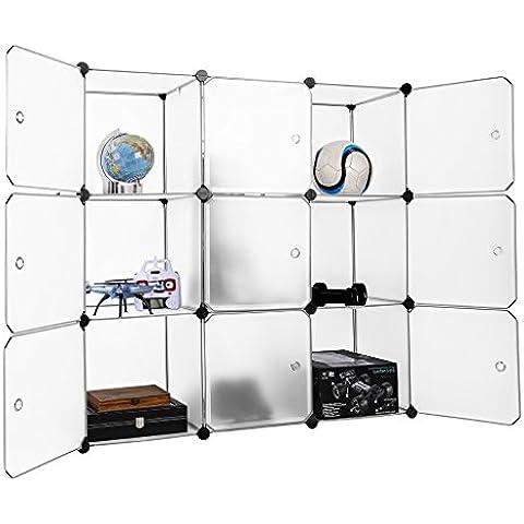 Finether - Armario Modular de 9 Cubos (para Ropa, Zapatos, Juguetes, Libros, Chucherías) Blanco