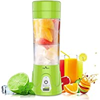 HOBFU Mini Blender Multifonctionnel, Portable Juice Blender bouteille, Machine à Jus Portable, Coupe Fruit Mixing Machine, 380ML