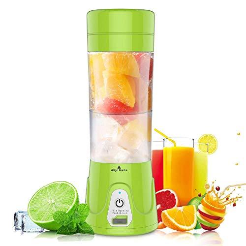 HOBFU Mini Blender Multifuncional, Botella portátil de la licuadora del Jugo, Máquina portátil del Jugo, Máquina de Mezcla de la Fruta de la Taza, 380ML