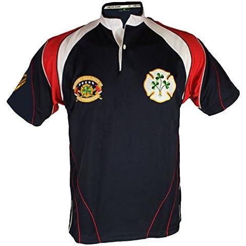 Maglietta da Rugby della Scozia al Torneo delle Sei Nazioni, con ricamo a forma di leone rampante, taglie dalla XS alla 3XL