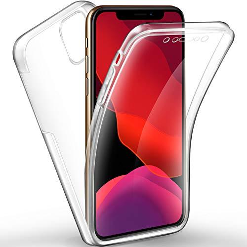 AROYI iPhone 11 Pro Hülle 360 Grad Handyhülle, Silikon Crystal Full Schutz Cover [2in1 Separat Hart PC Zurück + Weich TPU Vorderseite] Vorne und Hinten Schutzhülle für iPhone 11 Pro (5,8 Zoll)