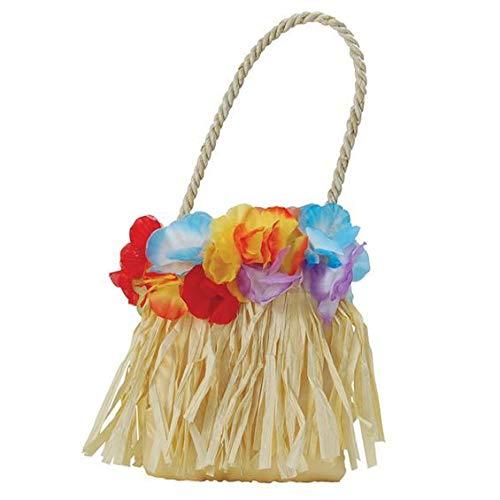 shoperama Kleine Hawaii Tasche mit Blumen Kostüm-Zubehör Handtasche Damen Beach Party
