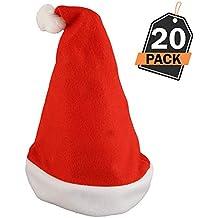 20 Sombreros de Santa Claus - Gorros Rojos de Papá Noel para Celebración de  Navidad – 9a0547e52f6