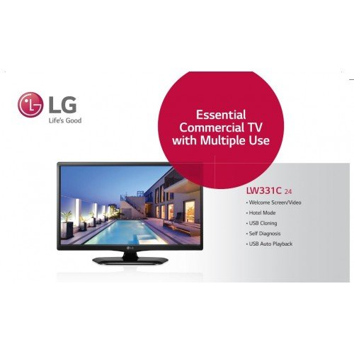 LG 61 cm (24 inches) LW331C HD Ready LED TV (Black)