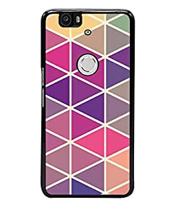 PrintVisa Designer Back Case Cover for Huawei Nexus 6P :: Huawei Google Nexus 6P (Lines Cross Zigzag Cubes Triangles )