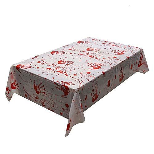 ed Bloody Tischdecke Blood Drip Tischabdeckung für Halloween Party Haunted House ()