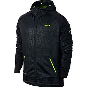 Nike Lebron DNA Elite Hoodie - Black/Volt
