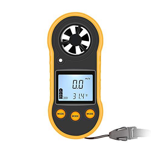 YBYBYB Anemometer Tragbare Handheld Anemometer LCD Hintergrundbeleuchtung Kann In Der Nacht Zum Surfen Segeln Angeln Angeln Kite Mountaineering Verwendet Werden