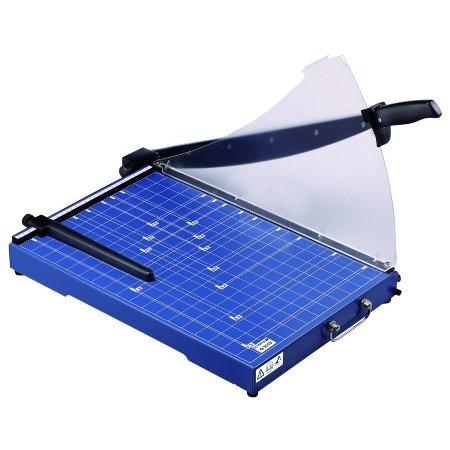 Olympia G 3115 Hebelschneider (für Papier, DIN A4, 15 Blatt, Metallauflage, Schneidemaschine mit Schneidelineal, Papierschneidemaschine für Büro)