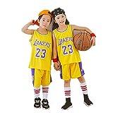 Abbigliamento da Basket per Bambini, Uomini e Donne, Scuola secondaria guerrieri 30 ° Lakers 24 ° Divise da Allenamento di Pallacanestro, Completi ad Asciugatura rapida-22-L