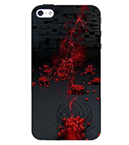 PrintDhaba RED DROP PATTERN D-6394 Back Case Cover for APPLE IPHONE 4 (Multi-Coloured)