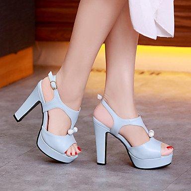 LvYuan Da donna-Sandali-Casual Serata e festa Formale-Altro-Quadrato-PU (Poliuretano)-Blu Rosa Bianco Beige Blue
